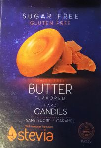 Sugar Free Hard Candy Butter Flavour with STEVIA